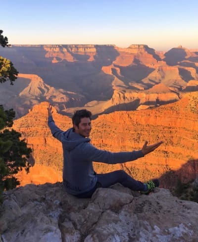 Arie at the Grand Canyon
