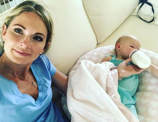 Cameran Eubanks and Baby Palmer