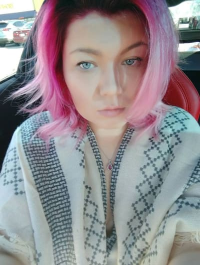 Amber Portwood Pink Hair
