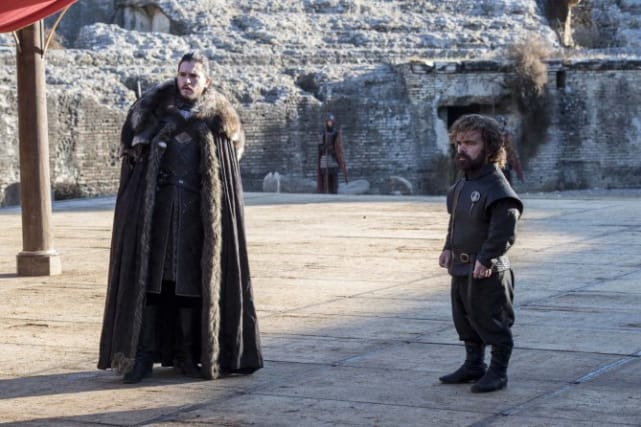 Tyrion and jon look concerned