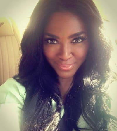 Kenya Moore, Glowing Selfie