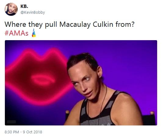 Macaulay culkin amas appearance twitter reaction 02