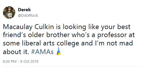 Macaulay culkin amas appearance twitter reaction 01