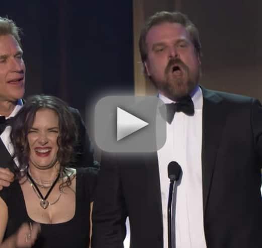 Stranger things wins top sag award star gives rousing acceptance