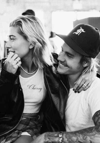 Justin Bieber with Hailey Baldwin