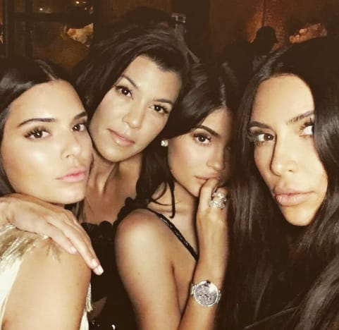 Kim, Kylie, Kourtney and Kendall