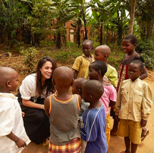 She does a lot of humanitarian work