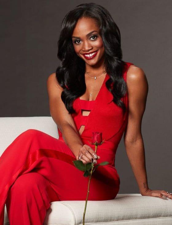 Rachel lindsay in red