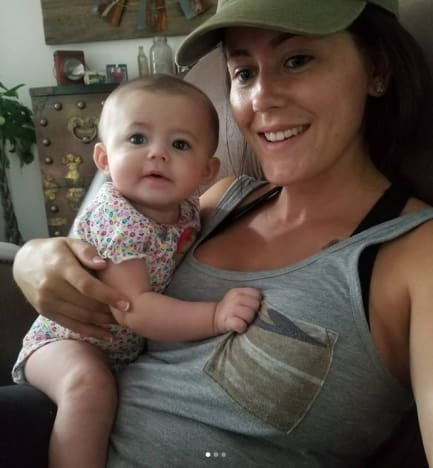 Jenelle Evans and Baby Ensley Jolie