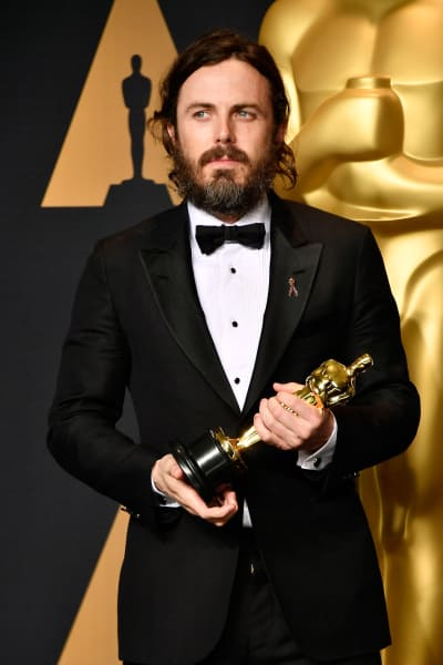 Casey Affleck With Oscar