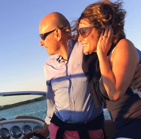 LuAnn de Lesseps Tom D'Agostino Jr Boat