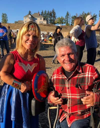 Amy Roloff and Matt Roloff on the Farm