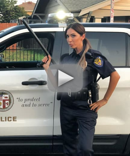 Farrah abraham im playing a cop in a real movie