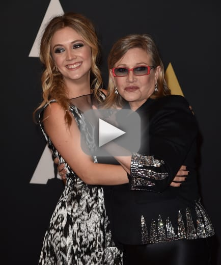 Carrie fisher billie lourd honors legendary mom two years later