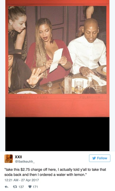 Beyonce hates bad service