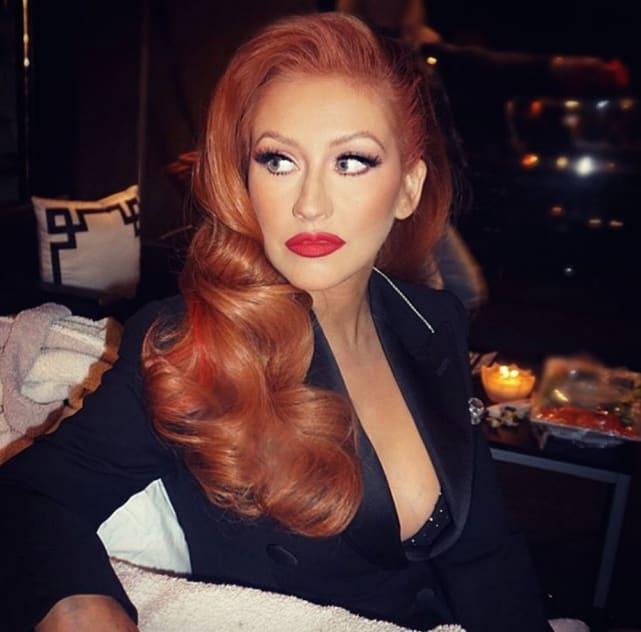 Christina aguilera red hair