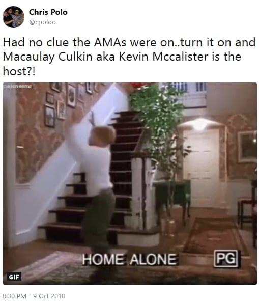 Macaulay culkin amas appearance twitter reaction 04