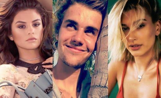 Selena Gomez, Justin Bieber, Hailey Baldwin Split