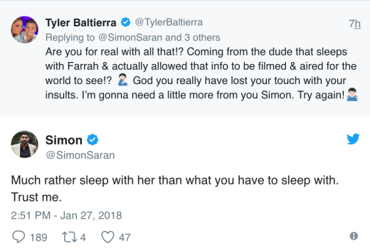 Simon Saran tweets