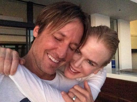 Keith Urban and Nicole Kidman, Smiling
