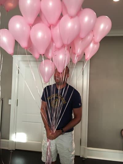 Derek Jeter with Balloons