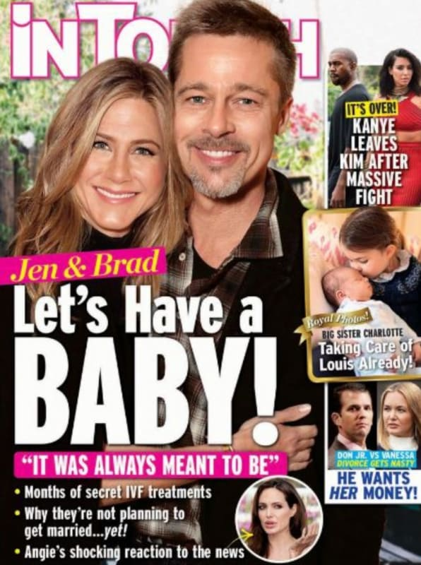 Brad pitt and jennifer aniston baby alert