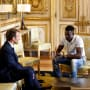 Mamoudou gassama and emmanuel macron