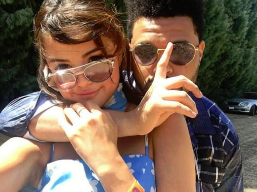 Selena Gomez Selfie with The Weeknd