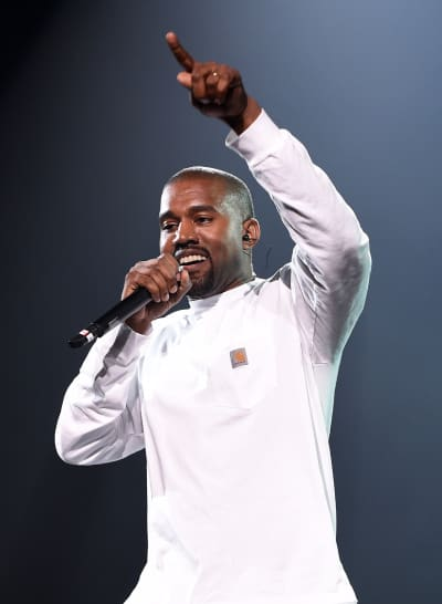 Kanye West in White, On Stage