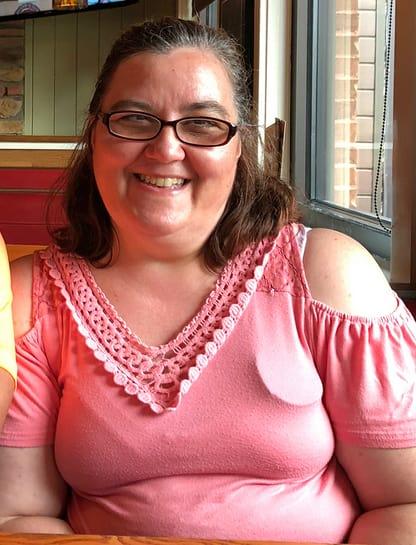 Danielle mullins wears pink