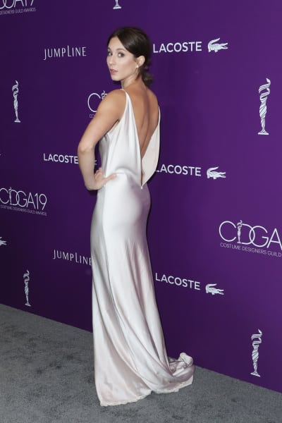 Troian Bellisario in a Stunning White Gown