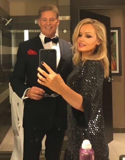 David Hasselhoff and Hayley Roberts, Mirror Selfie