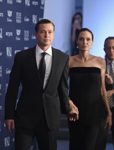 Brad Pitt and Angelina Jolie in 2015