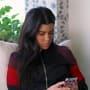 Kourt on her phone