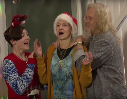 Rain Brown, Ami Brown, Billy Brown at Christmas 2017