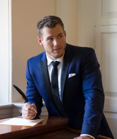 Colton Underwood with a Pen