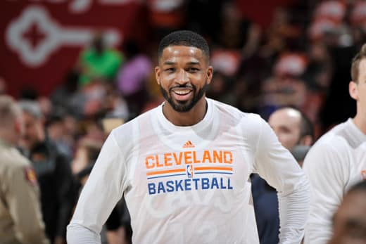 Tristan Thompson at the Miami Heat v Cleveland Cavaliers Game