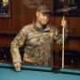 Sugar bear feels awkward while playing pool