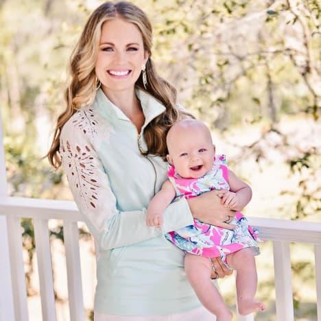 Cameran Eubanks Holds Baby Palmer