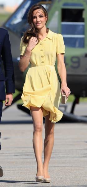 Kate Middleton Wearing Yellow