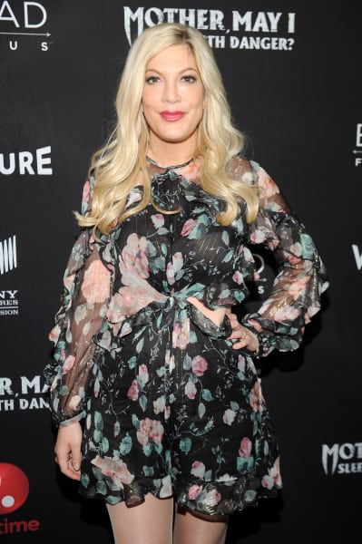 Tori Spelling on a Red Carpet