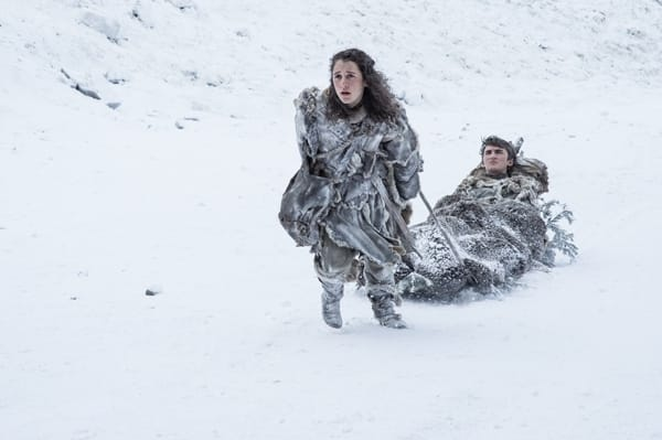 Bran and meera on the run