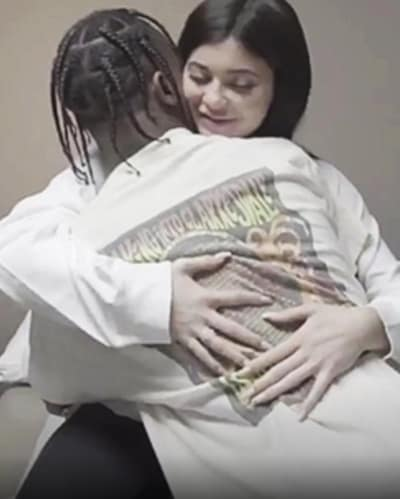 Travis Hugs Kylie