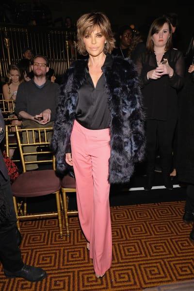 Lisa Rinna at Fashion Week in NY