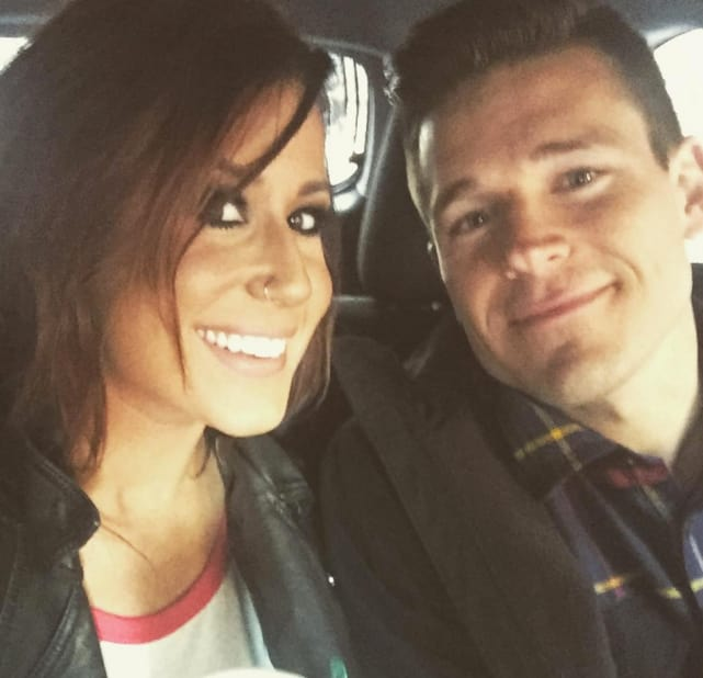 Chelseak houska takes a selfie with cole deboer