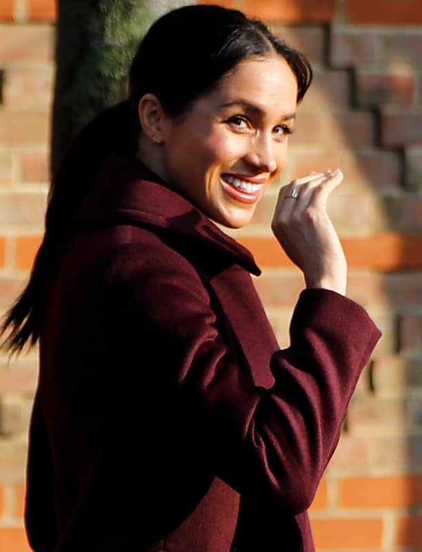 Meghan markle with her ring