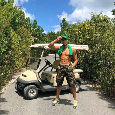 Younes Bendjima on Vacation