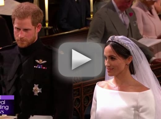 Prince harry and meghan markle watch them exchange vows