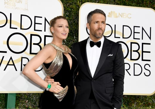 Blake Lively and Ryan Reynolds at the Globes