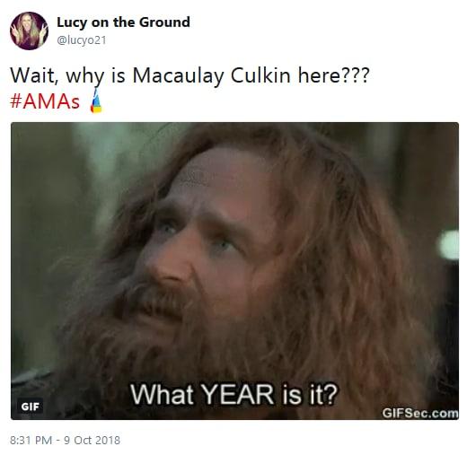 Macaulay culkin amas appearance twitter reaction 05